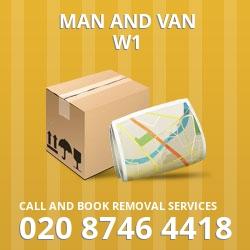 W1 man and van Marylebone