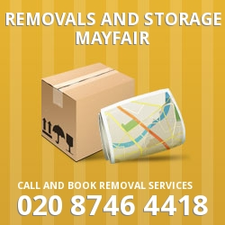 Mayfair moving and storage W1