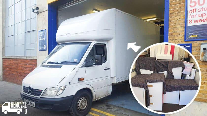 Bloomsbury moving vans WC1