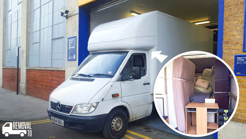 Wormwood Scrubs moving vans W12