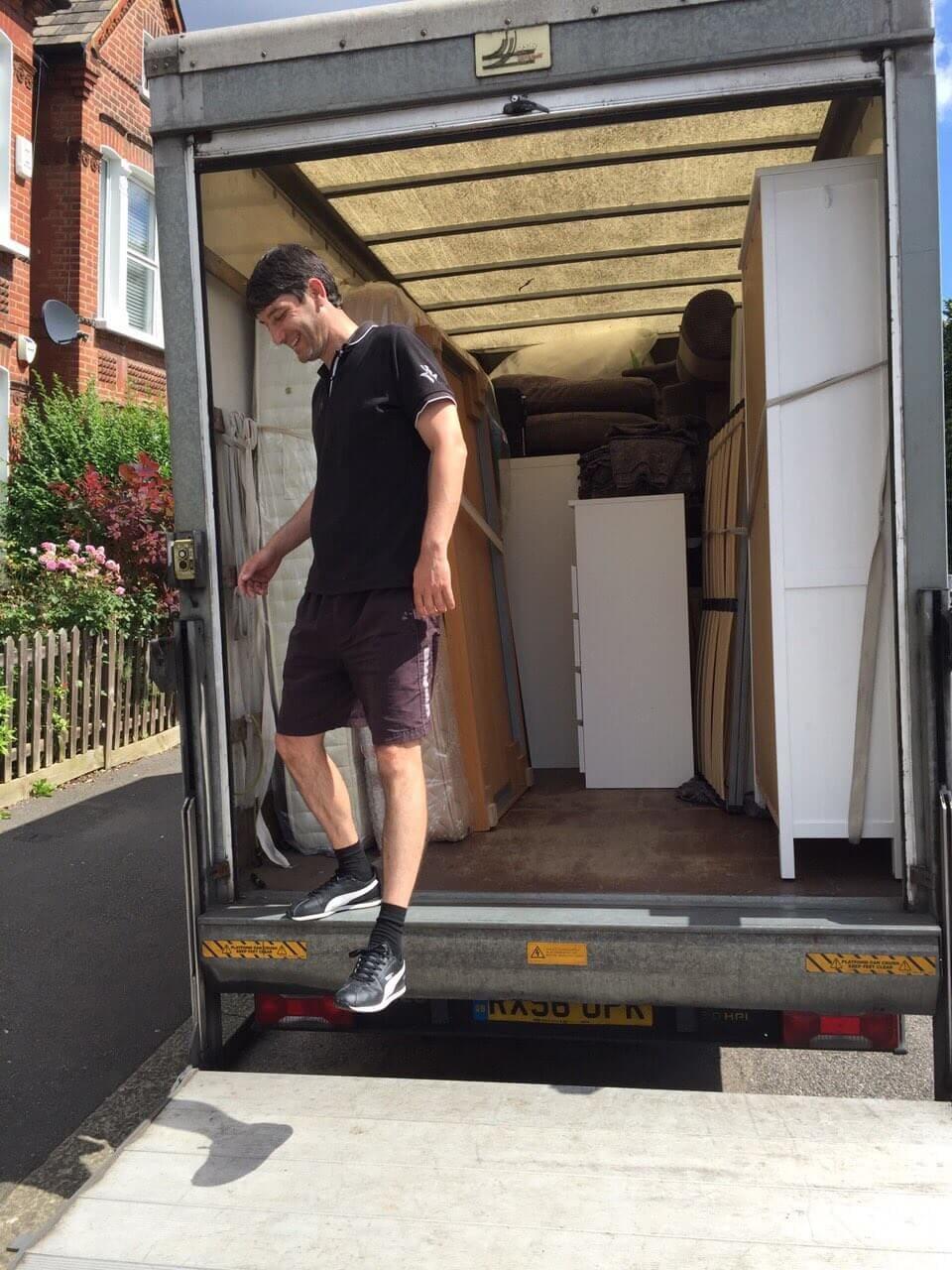 Hayes van with man UB3