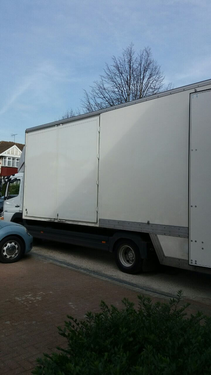 Hendon van with man NW4