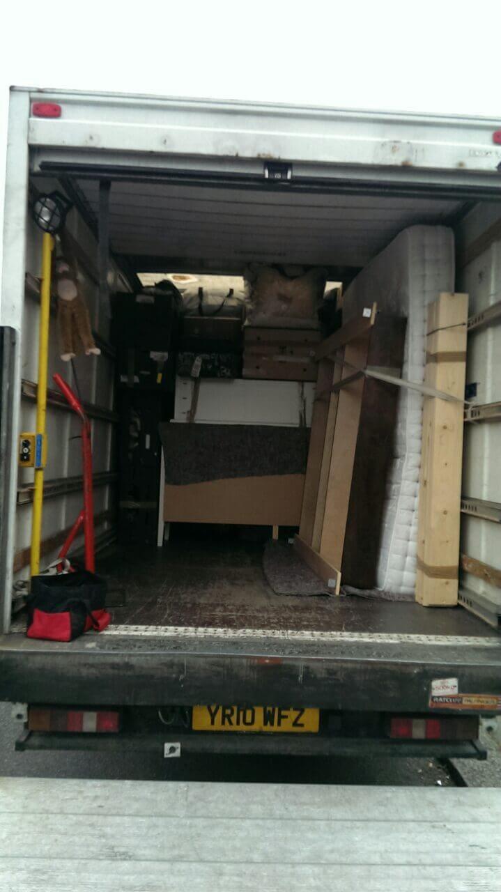 Shoreditch van with man EC2