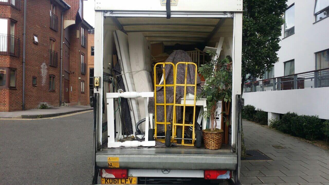 St James's van with man SW1