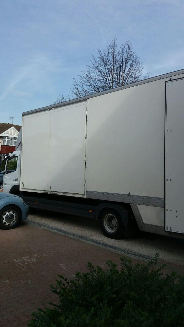 Warwick Avenue van with man W9