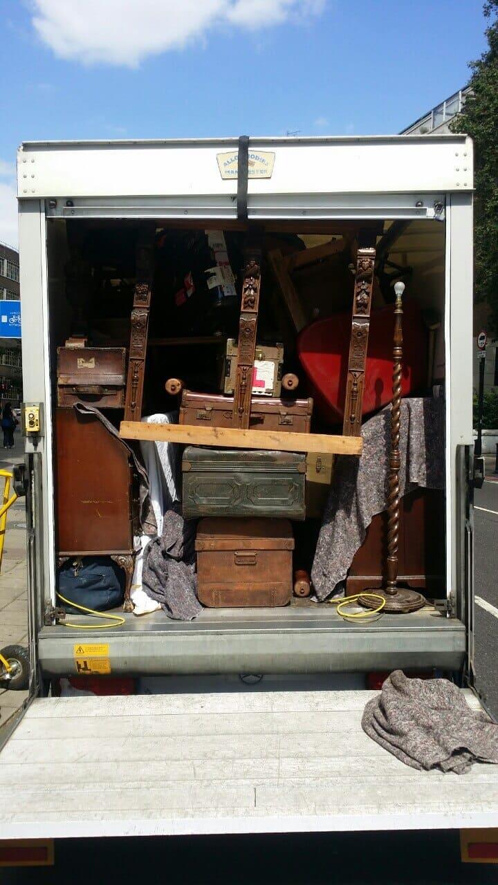 West Kensington van with man W14